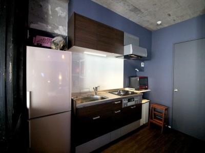 キッチン (上品ブルックリン風、プライベートルーム)
