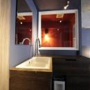 上品ブルックリン風、プライベートルームの写真 洗面