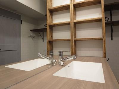造作洗面化粧台 (メゾネットソーホー)