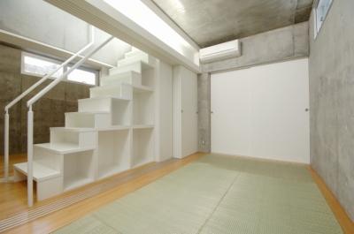 地下の寝室(和室) (コトノハ舎)