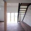 大泉の家(大きなロフトとルーフテラスのある2世帯住宅)の写真 リビング、ダイニング(2階、子世帯)