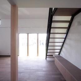 大泉の家(大きなロフトとルーフテラスのある2世帯住宅) (リビング、ダイニング(2階、子世帯))