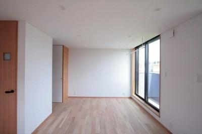 洋室(2階、子世帯) (大泉の家(大きなロフトとルーフテラスのある2世帯住宅))