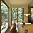 F邸_庭の緑と空間を楽しむ住まいをつくるの写真 ダイニング