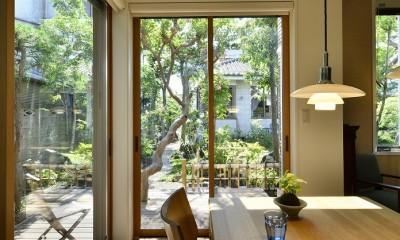 F邸_庭の緑と空間を楽しむ住まいをつくる (ダイニング)
