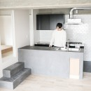 モールテックスキッチンのシンプルリノベーションの写真 モールテックスキッチン