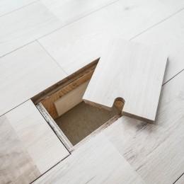モールテックスキッチンのシンプルリノベーション (床下コンセント)
