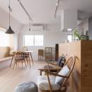 西荻の家-眺望と回遊性のある住まいの写真 リビング・ダイニング・キッチン