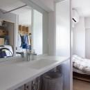 西荻の家-眺望と回遊性のある住まいの写真 洗面所