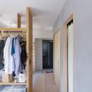 西荻の家-眺望と回遊性のある住まいの写真 寝室
