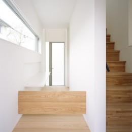 武蔵小金井の家_敷地全体を使いこなすコンパクトな住まい (玄関ホール)