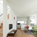 武蔵小金井の家_敷地全体を使いこなすコンパクトな住まいの写真 リビング・ダイニング・キッチン