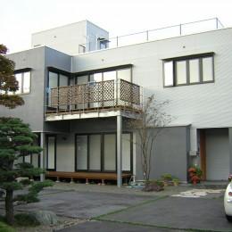 ガルバリウムトタン外壁の家