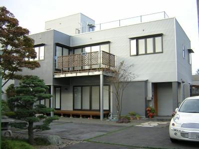 ガルバリウムトタン外壁の家 (外観)