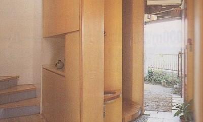 内外デッキのある家|北春日部の家 (土間)