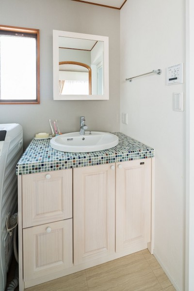 洗面室 (世田谷区等々力S邸 ~家族みんなで考えた家づくり~)