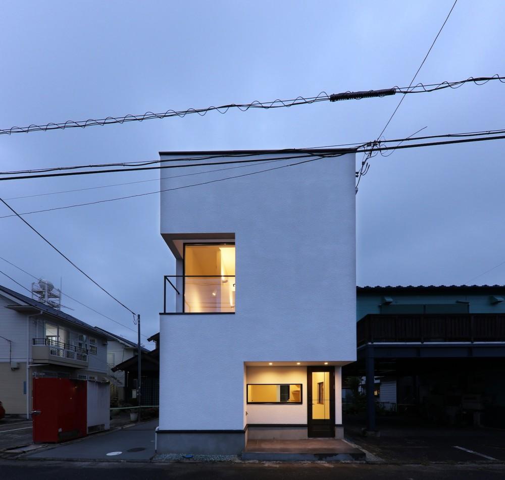 仙台のハコノオウチ (外観夜景)