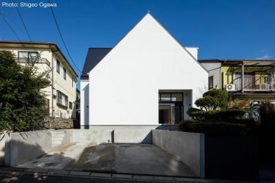 外観 (猫と住む家 横浜の二世帯住宅OUCHI-40)