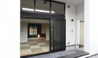 親世帯のポーチ|猫と住む家 横浜の二世帯住宅OUCHI-40