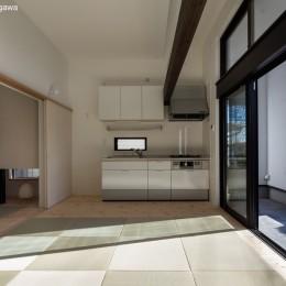 猫と住む家 横浜の二世帯住宅OUCHI-40 (親世帯リビング)