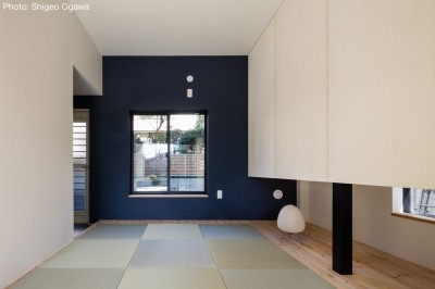 親世帯寝室 (猫と住む家 横浜の二世帯住宅OUCHI-40)