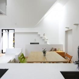 猫と住む家 横浜の二世帯住宅OUCHI-40 (猫が駆け下りるキャットウオーク)
