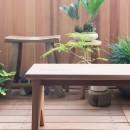 南越谷Mさんの家の写真 米杉のベンチも今回のために製作