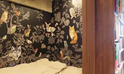 本と暮らす家 (寝室)