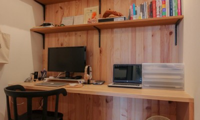 和洋折衷のインダストリアル空間 (書斎)