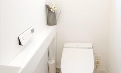 こだわりの造作洗面台 (トイレ)