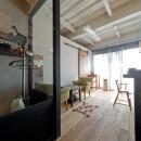 暮らしながら育むブルックリンスタイルの鉄骨住宅の写真 カフェコーナー