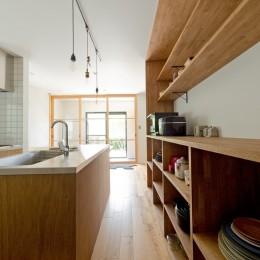 キッチン (モルタル×木×アイアンのモダンアメリカンな住まい)