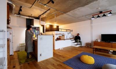 ロフトが主役のカフェハウス
