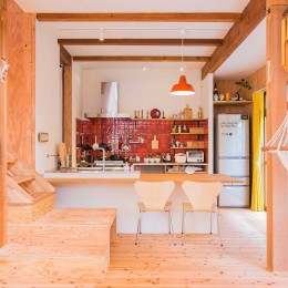 リビングダイニング (【継承リノベーション】想い出BOX~おじいさまから譲り受けた木造の家、思い出を繋いでいく住まい~)