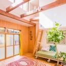 【継承リノベーション】想い出BOX~おじいさまから譲り受けた木造の家、思い出を繋いでいく住まい~の写真 吹き抜け