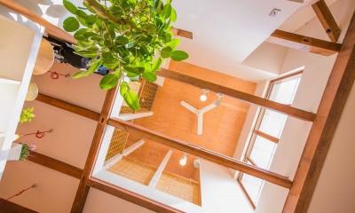 【継承リノベーション】想い出BOX~おじいさまから譲り受けた木造の家、思い出を繋いでいく住まい~ (吹き抜け)