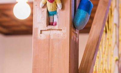 【継承リノベーション】想い出BOX~おじいさまから譲り受けた木造の家、思い出を繋いでいく住まい~ (どうしても取れない柱)