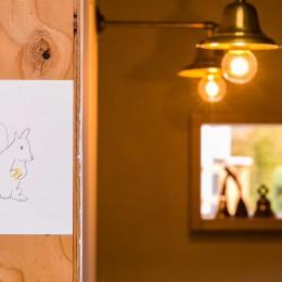 【継承リノベーション】想い出BOX~おじいさまから譲り受けた木造の家、思い出を繋いでいく住まい~ (照明)
