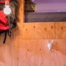 【継承リノベーション】想い出BOX~おじいさまから譲り受けた木造の家、思い出を繋いでいく住まい~の写真 構造用合板