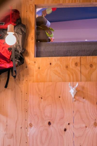 構造用合板 (【継承リノベーション】想い出BOX~おじいさまから譲り受けた木造の家、思い出を繋いでいく住まい~)