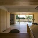 castor/単純な大屋根形状に普遍的な間取りを、立体的断面形状で組み込んでみる。の写真 リビング