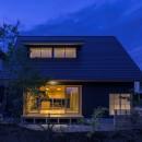 castor/単純な大屋根形状に普遍的な間取りを、立体的断面形状で組み込んでみる。の写真 外観