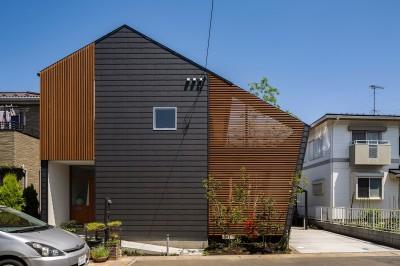 elnath/平面的、立体的な斜めの壁によって構成された空間を考えてみる。 (外観)