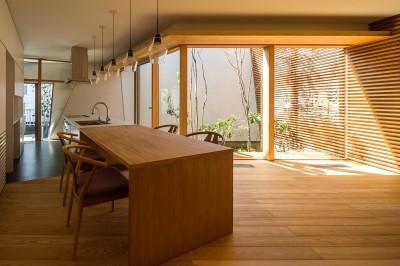 elnath/平面的、立体的な斜めの壁によって構成された空間を考えてみる。 (リビングダイニングキッチン)