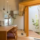elnath/平面的、立体的な斜めの壁によって構成された空間を考えてみる。の写真 ダイニングキッチン