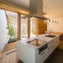 elnath/平面的、立体的な斜めの壁によって構成された空間を考えてみる。の写真 キッチン