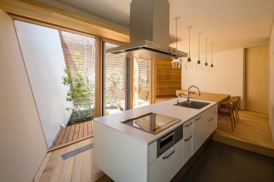 キッチン (elnath/平面的、立体的な斜めの壁によって構成された空間を考えてみる。)