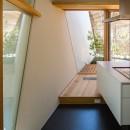 elnath/平面的、立体的な斜めの壁によって構成された空間を考えてみる。の写真 キッチン・中庭