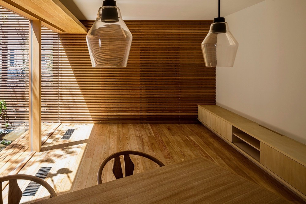 elnath/平面的、立体的な斜めの壁によって構成された空間を考えてみる。 (リビング)