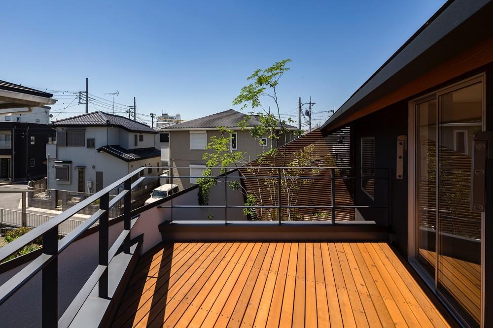 elnath/平面的、立体的な斜めの壁によって構成された空間を考えてみる。 (バルコニー)